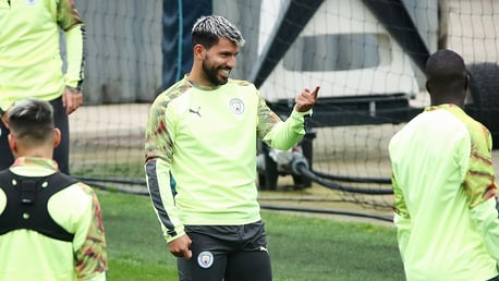 HAPPY DAYS: Kun, clearly enjoying the session