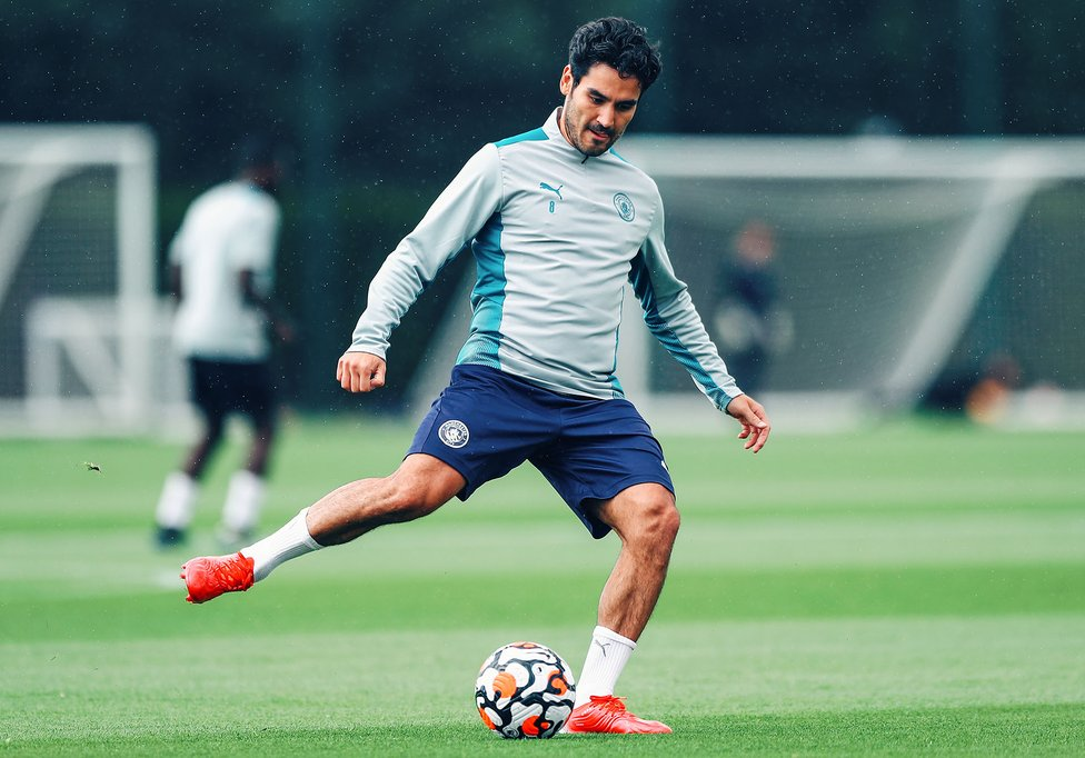 PASS MASTER: Our German midfielder was soon back in the groove