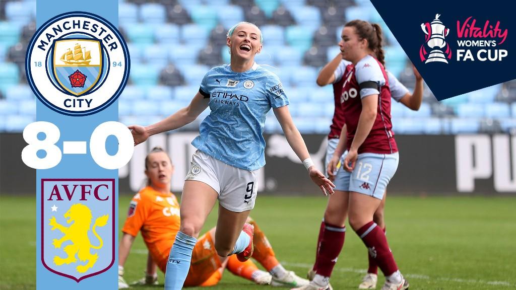 City 8-0 Aston Villa: Match highlights