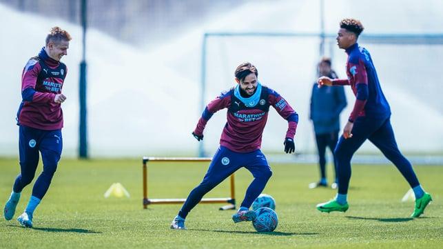 FEEL THE BERN: Bernardo Silva shows some fancy footwork