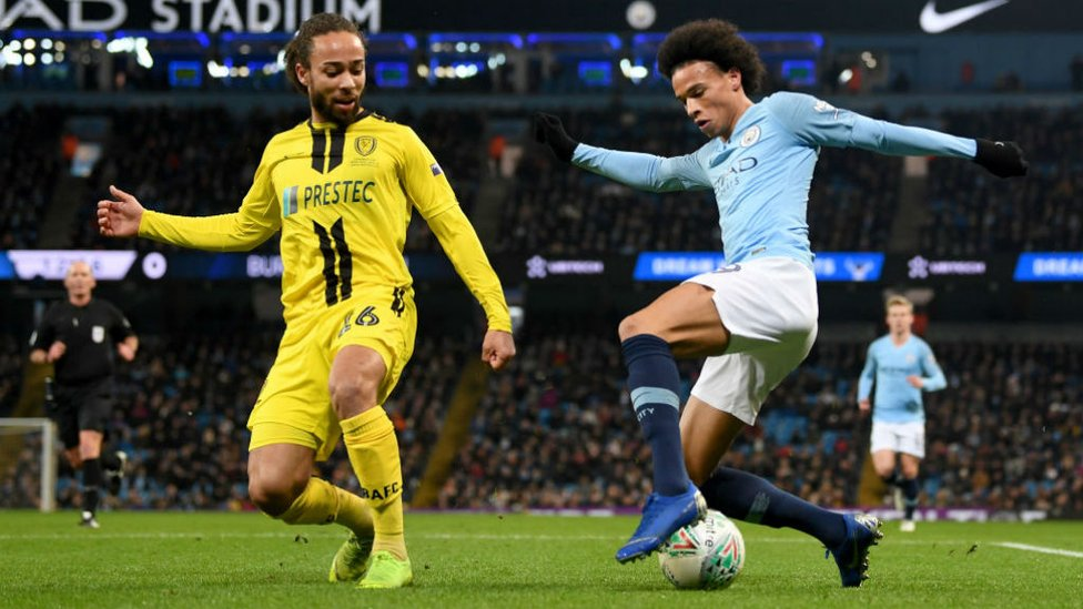 WING COMMAND : Leroy Sane causes havoc in the Burton back-line
