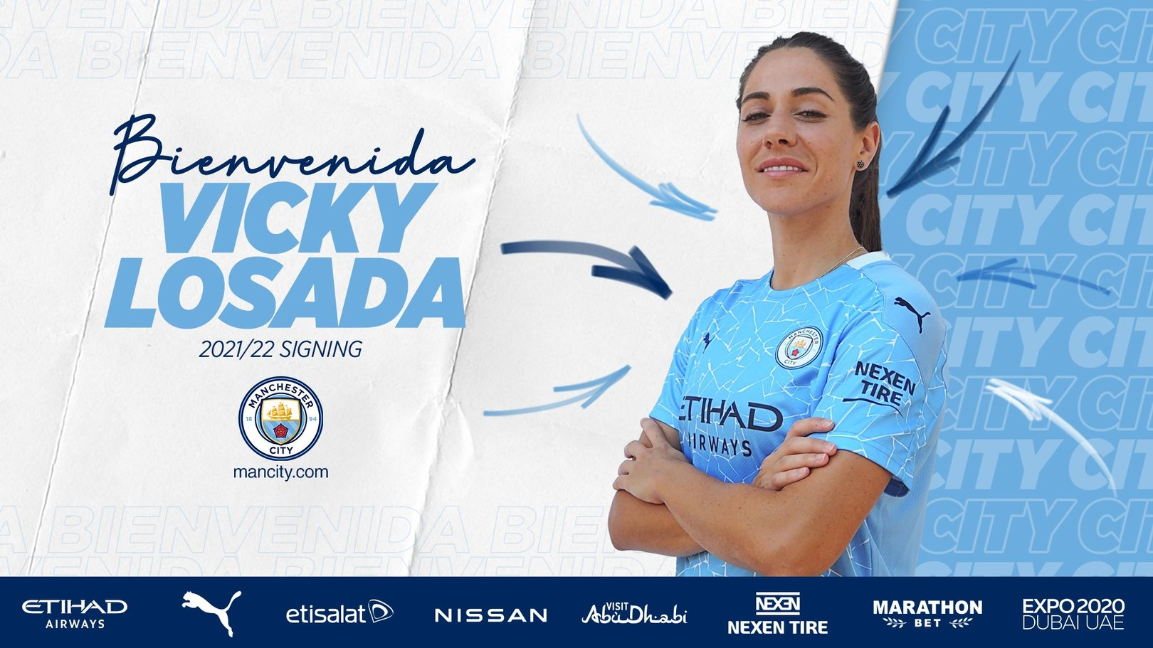Vicky Losada, nueva jugadora del Manchester City