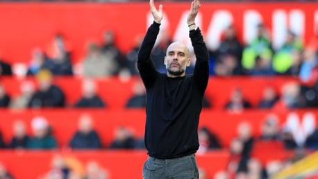 Pep Guardiola salutes the fans