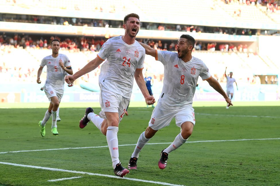 MESM-AYMERIC : A first Spain goal for Aymeric Laporte against Slovakia