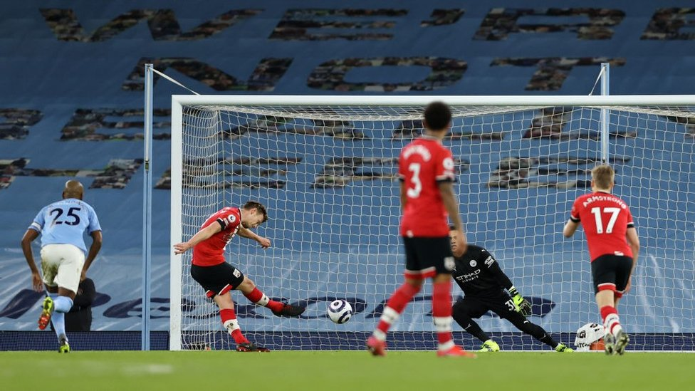 EQUALISER: James Ward-Prowse makes no mistake from the spot
