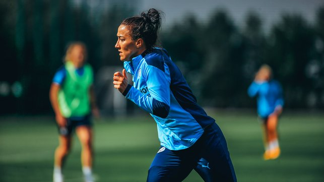 DRIVING ON: Lucy Bronze steps up the work rate