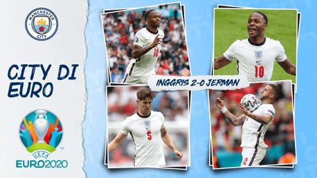 Gol Sterling Membantu Inggris ke Perempat Final Euro 2020