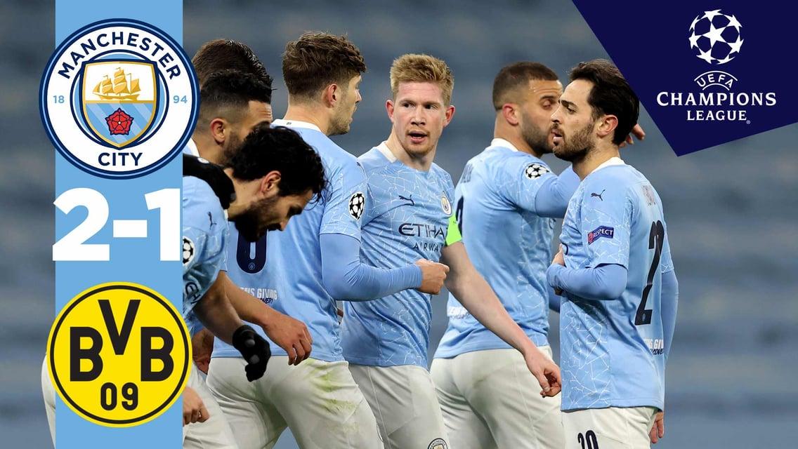 City 2-1 Dortmund: Match highlights