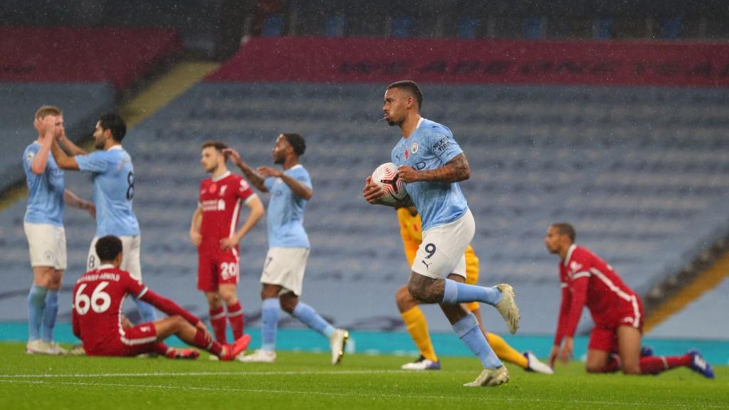 EFECTIVO. : Jesus marcó su tercer gol de la temporada en su tercer partido.