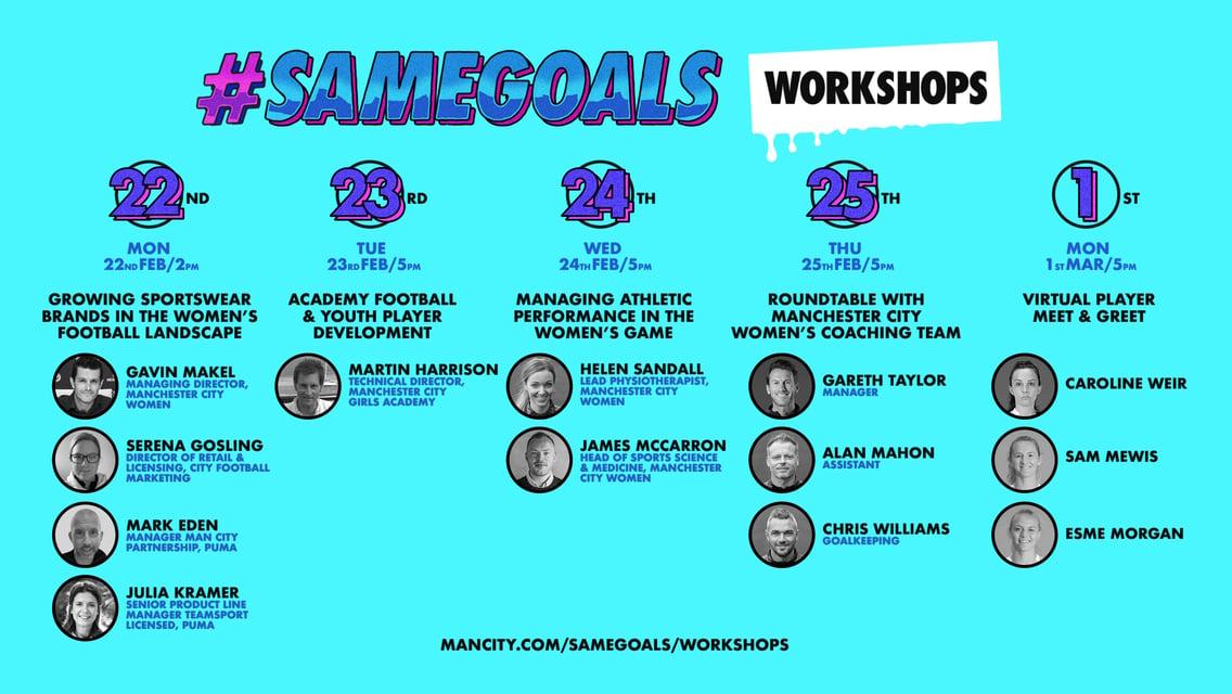 #SameGoals online workshops a roaring success!
