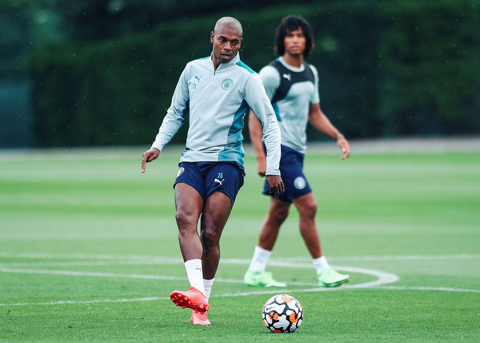BY THE RIGHT: The focus for Fernandinho and City is now Saturday's latest pre-season friendly at home to Barnsley