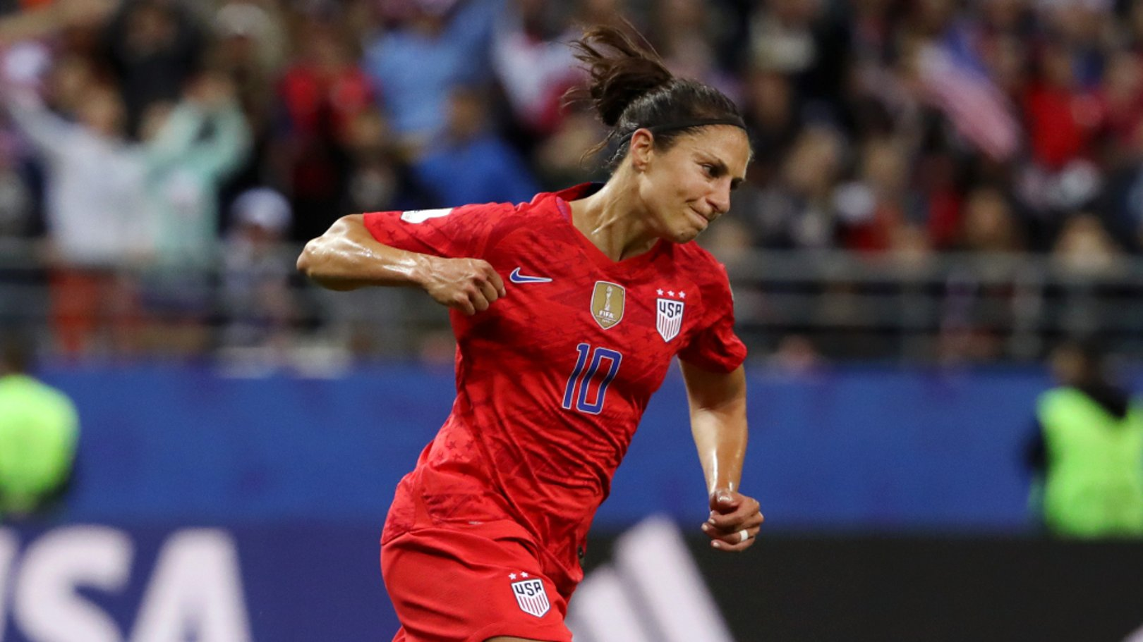 LUCKY 13: Carli Lloyd bagged the USA's THIRTEENTH goal against Thailand in their Group F opener!