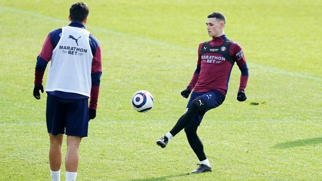 CLOSE CONTROL: Phil Foden shows off his skills