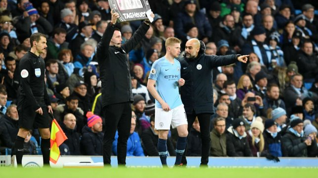 GREEN LIGHT FOR KDB : Not a bad player to have come off the bench....