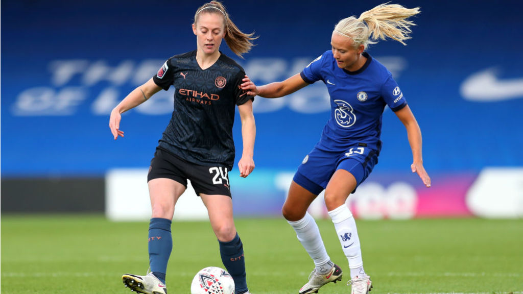 ON THE MOVE: Keira Walsh looks to spark a City attack