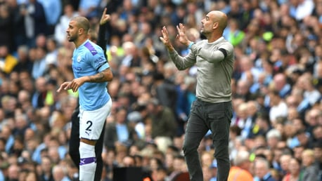 NEW ROLE: Pep Guardiola has not ruled out utilising Kyle Walker as a centre-back in Aymeric Laporte's absence.