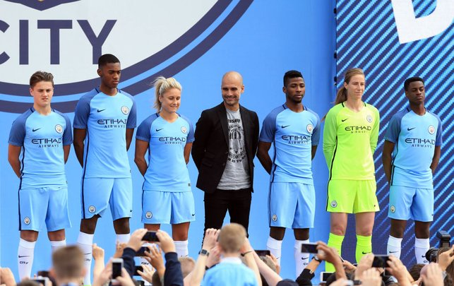NEW BEGINNING : The Catalonian is unveiled as Manchester City manager ahead of the 2016/17 season