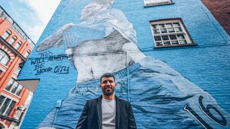 Une fresque d'Aguero dévoilée à Manchester