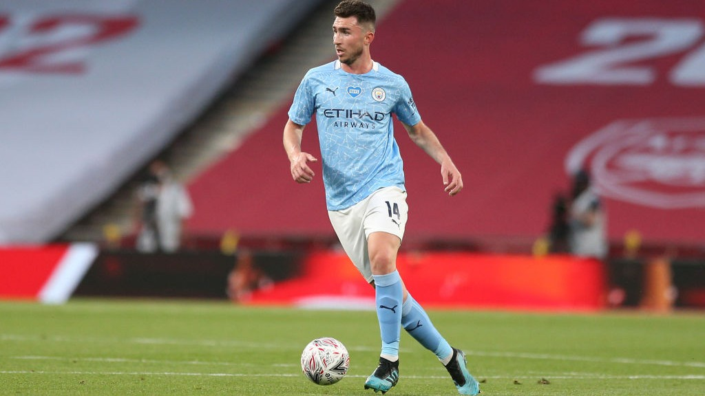 ON THE BALL: Aymeric Laporte starts another attack