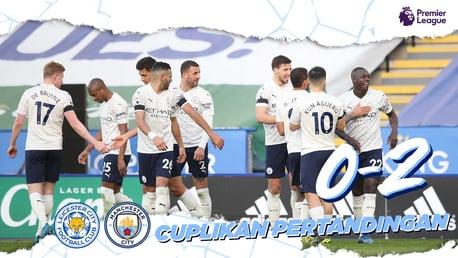 Leicester 0-2 City:  Cuplikan Singkat