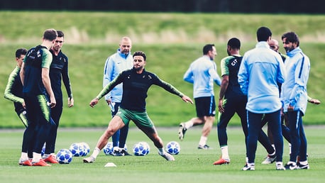 STRETCH: Kyle Walker prepares for our Champions League clash - plus, spot the new UCL footballs!
