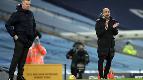 PEP TALK: The boss gees the lads up