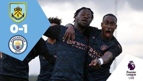 Burnley U18s 0-1 City: Full Match Replay