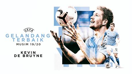 De Bruyne Menjadi Gelandang Terbaik UEFA