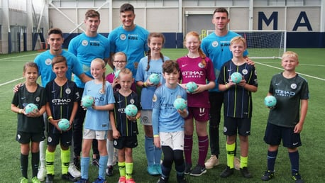 DAY TO REMEMBER: Our Junior Cityzens winners were thrilled to meet several City first team stars