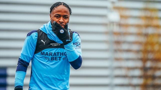 Sterling effort, Raheem : Back in training - thankfully!