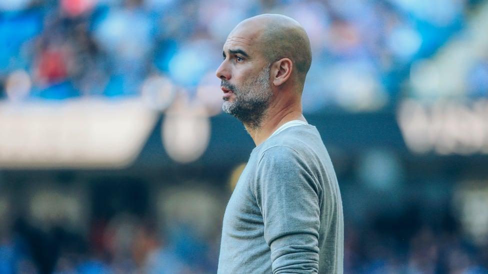 PEP : Pep Guardiola memimpin kemenangan liga terbesarnya sebagai bos City dengan kemenangan gemilang 8-0 atas Watford pada September 2019.