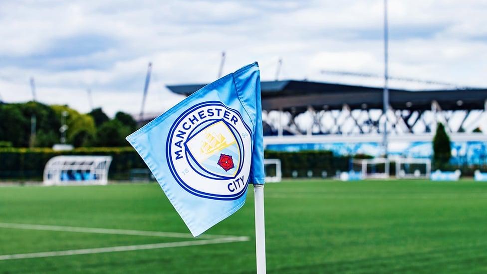 FUN IN THE SUN : Our club crest glistens at the CFA in the summer sun!