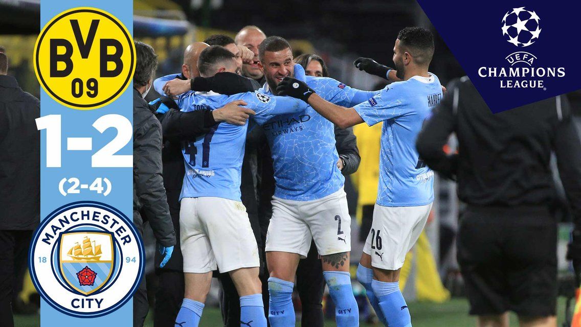 Dortmund 1-2 City: Match highlights