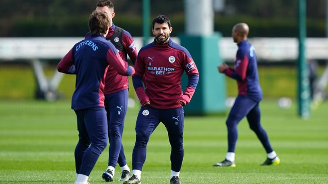 SUPER SERGIO: Our record goalscorer gears up for the session