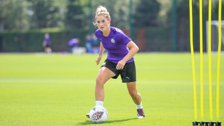 FIGHTING FIT: Laura Coombs is ready to return for City.