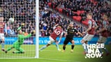 STRIKE: Aguero's first-time effort puts us in front at Wembley