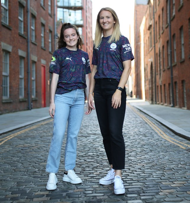 BORN IN THE USA : World Cup winners Rose Lavelle and Sam Mewis rocking the new threads out and about in Manchester