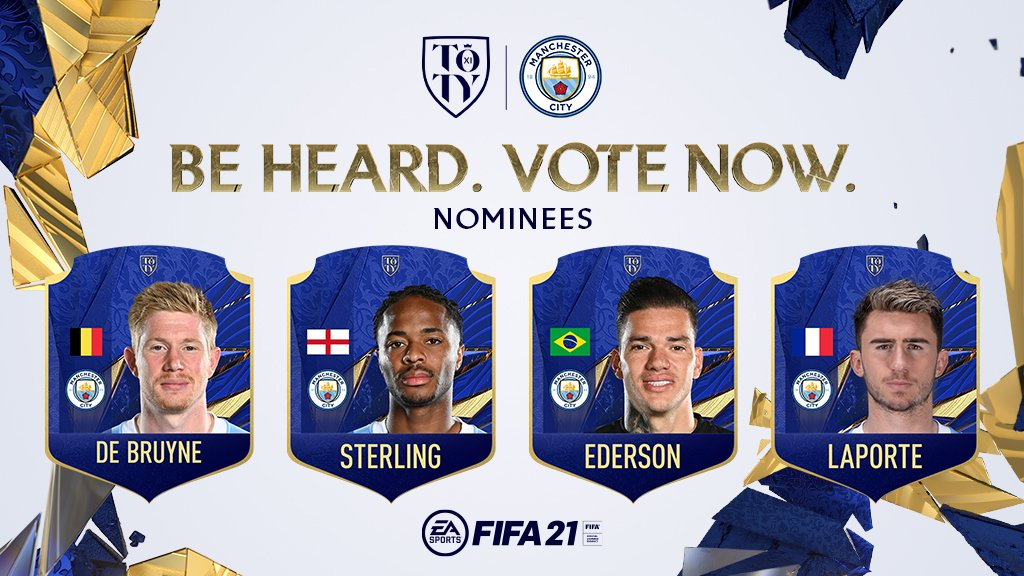 EA SPORTS FIFA 21 Team of the Year: Four City stars up for vote