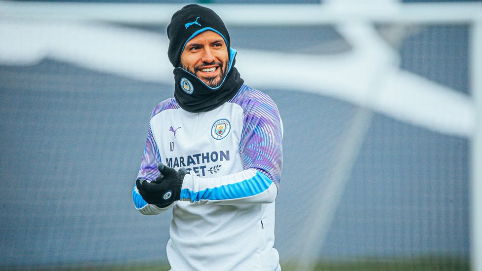 GLOVE STORY : Sergio Aguero and his City colleagues are eyeing a third consecutive Carabao Cup final appearance