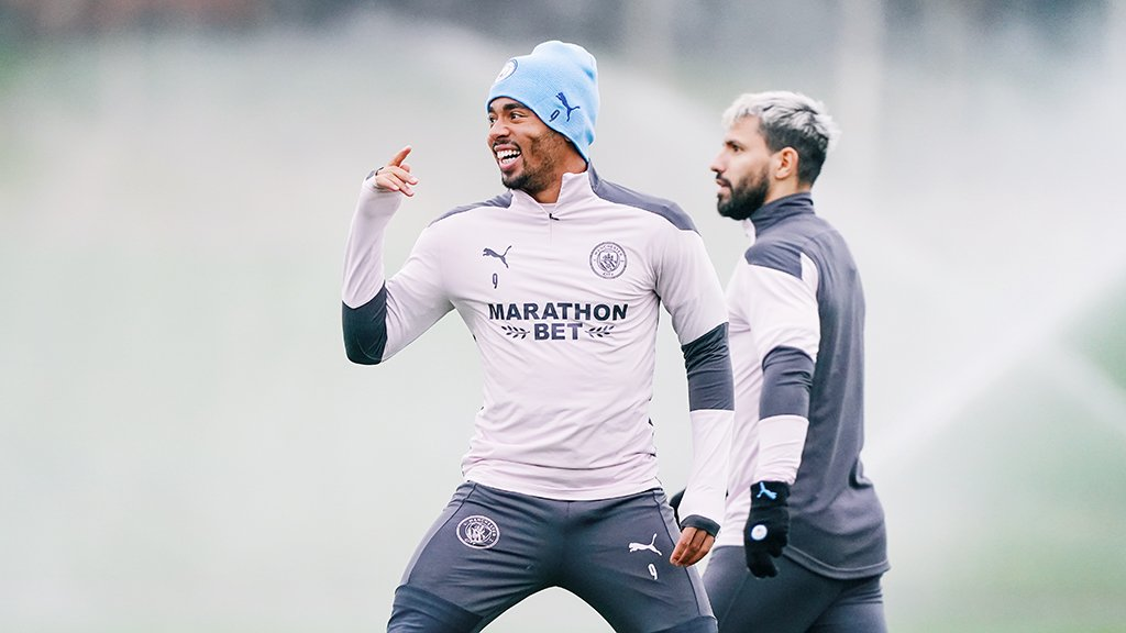 STRIKE A POSE! Gabriel Jesus and Sergio Aguero get in the groove