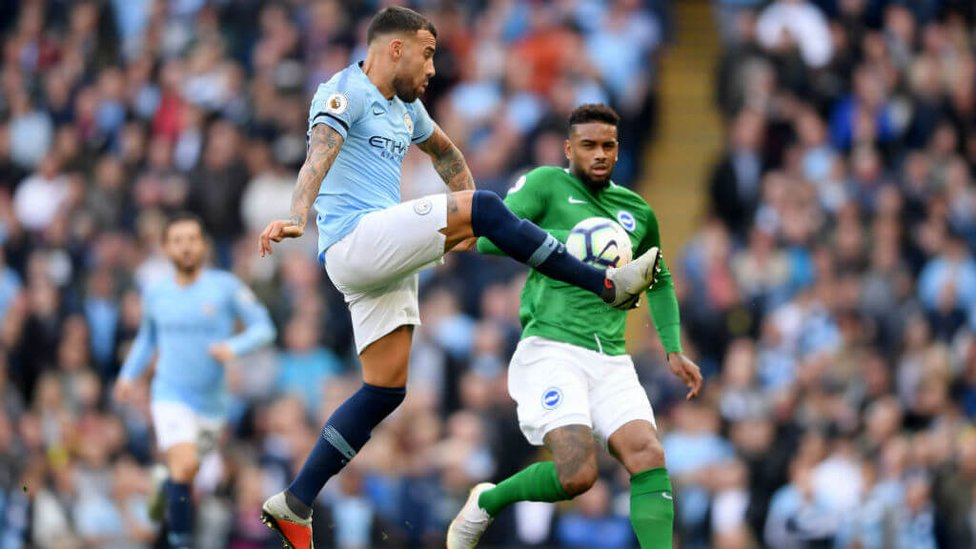 THE GENERAL : Nico shows his defensive qualities up against Jurgen Locadia