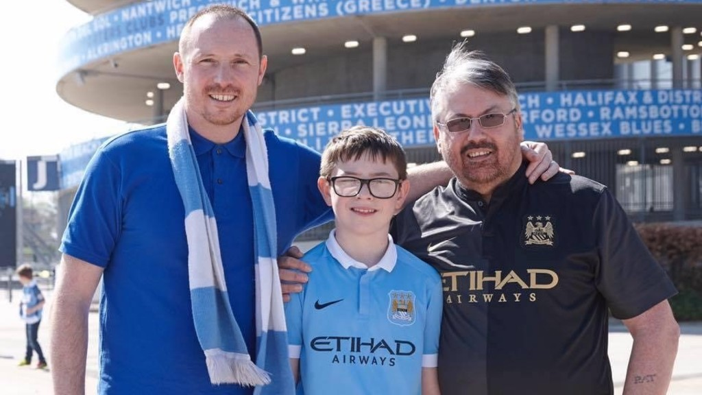Dr Jon Bell and City fan Jake Tindale to present Premier League trophy to Manchester City title winning squad