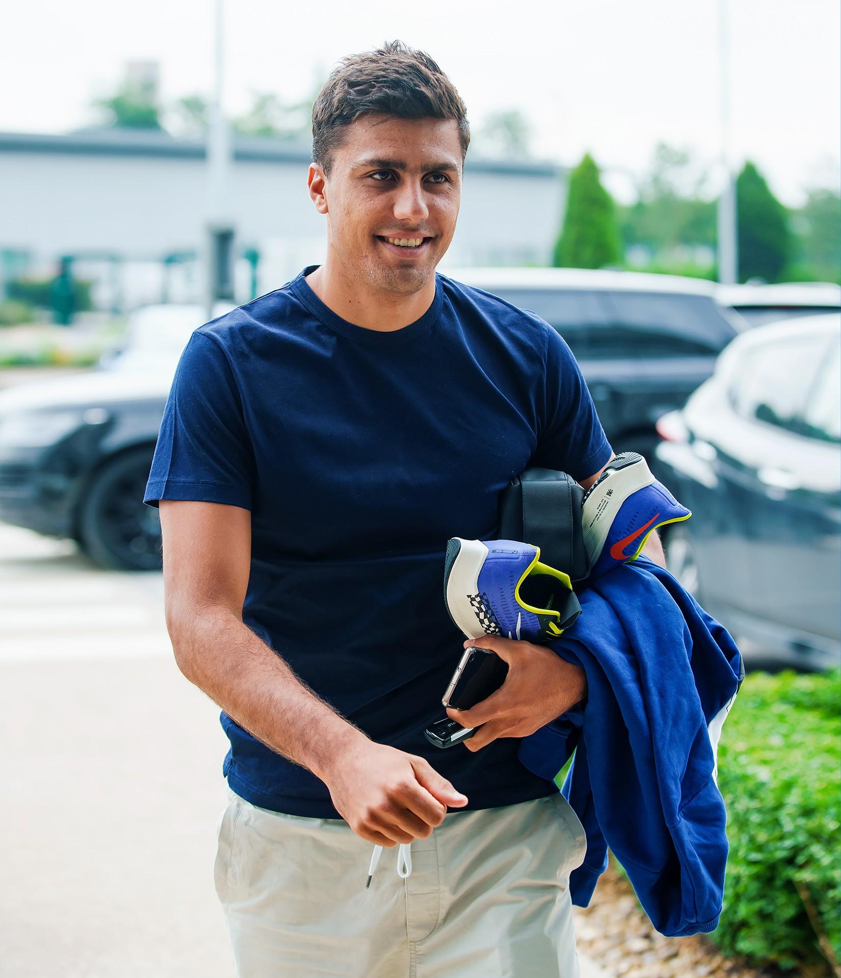 WELCOME BACK! Rodrigo arrives at the CFA on Monday morning