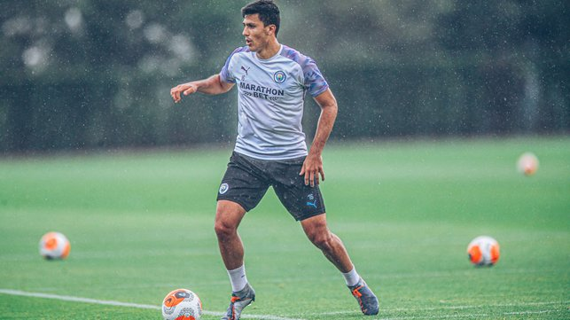 SHOWER POWER: Rodrigo moves through the gears