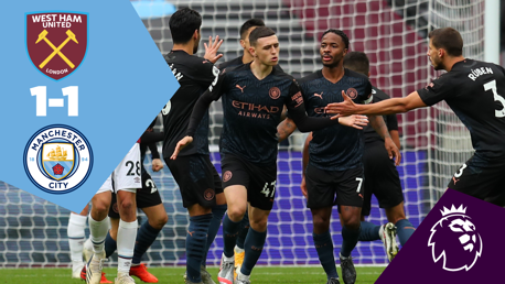 Full Match Replay: West Ham 1-1 City