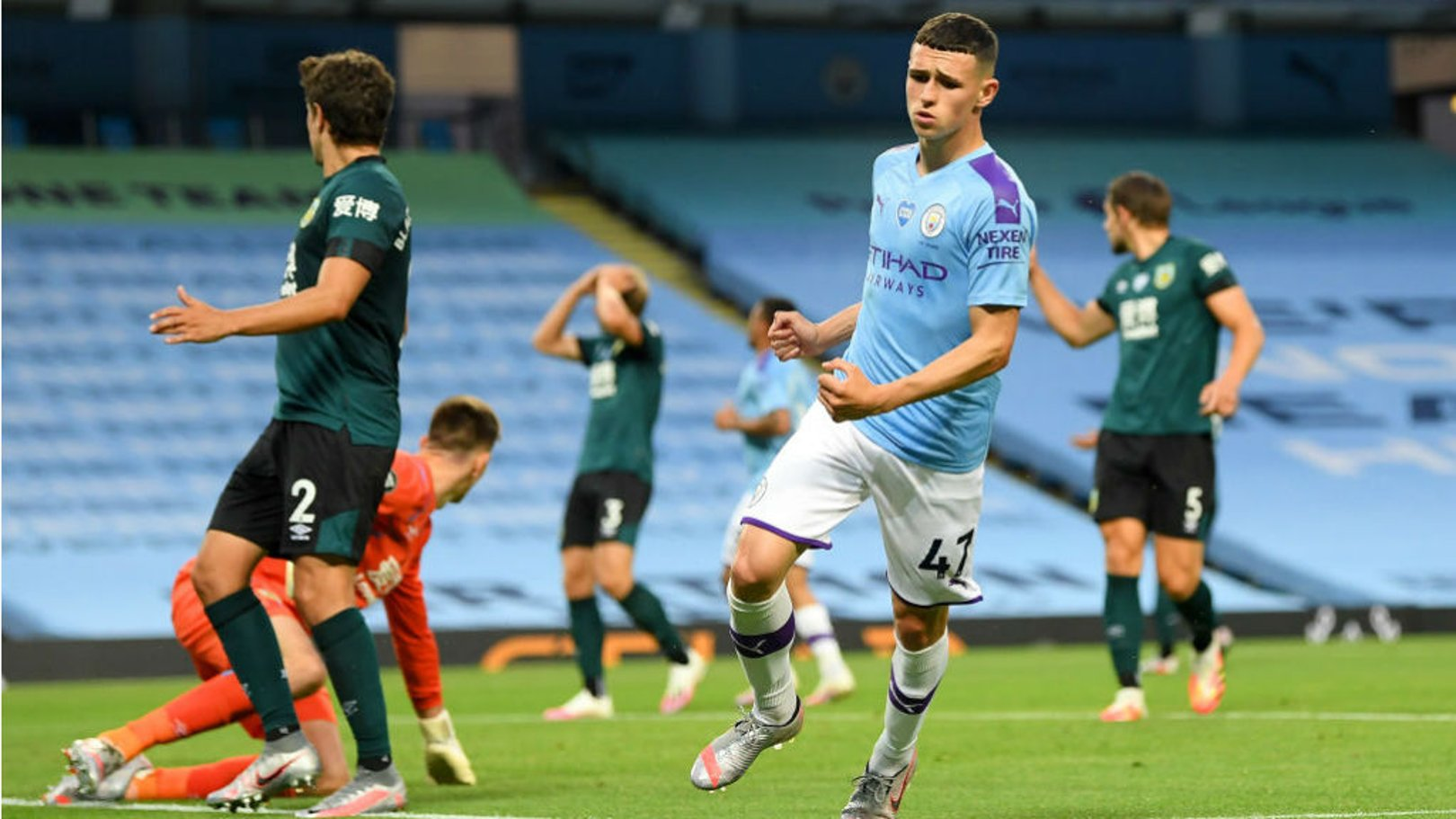ON THE MARK: Phil Foden in action for Manchester City against Burnley