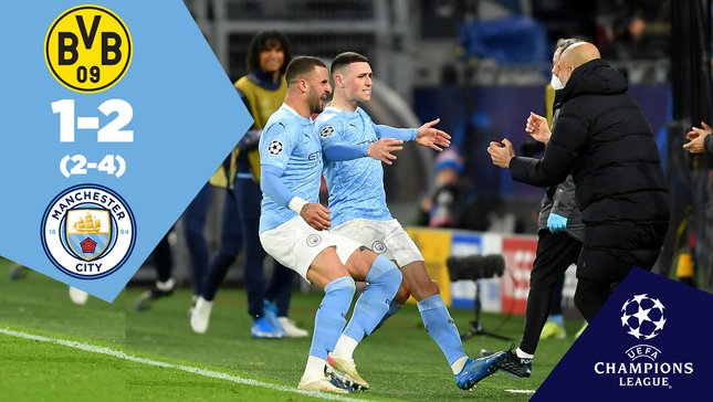 Dortmund 1-2 City: Full-match replay