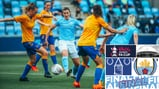 ACTION STATIONS: Ellen White puts the Everton defence under pressure