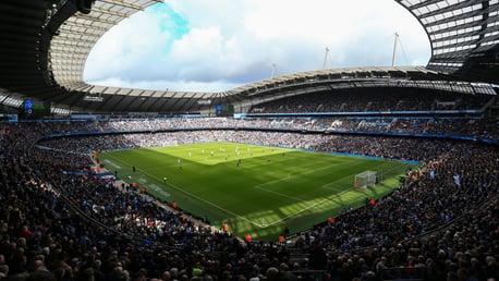 MATCHDAY: Etihad Stadium.