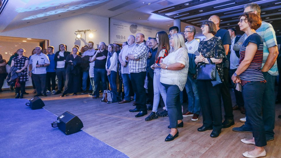 CROWD : 125 fans enjoyed an evening of food, drink and City chat!